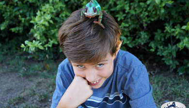 A Boy and his Chameleon