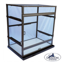 Atrium chameleon cage with Draogn Ledges and Drainage Tray