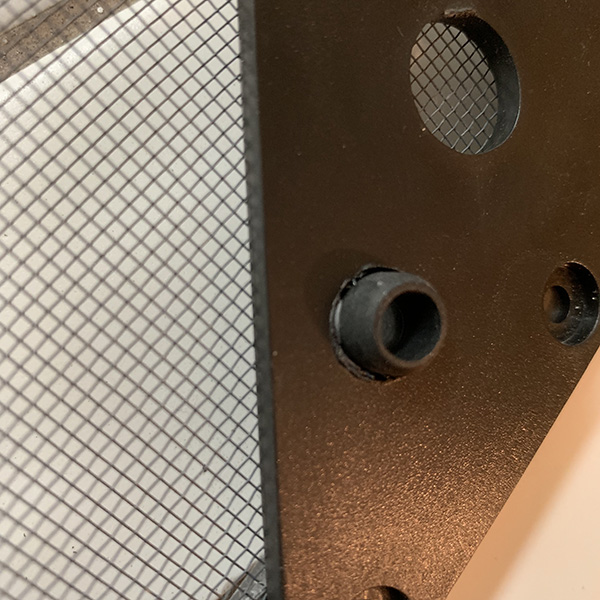 Grommet from inside cage