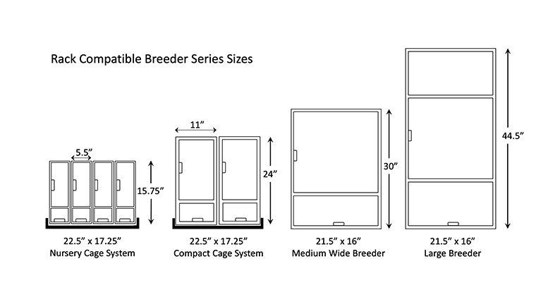 Breeder Series Rack cages