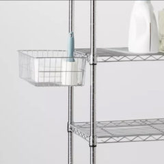 Wire shelving basket accessory